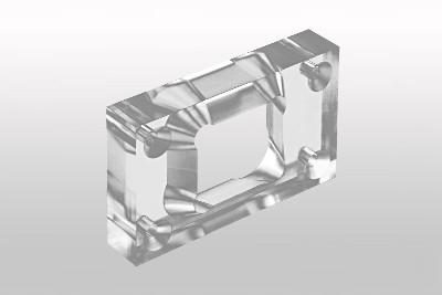 Rahmen aus Plexiglas